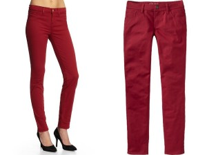 Wine Jeans, Wine Colored Denim, Wine colored jeans, dark red jeans, blackcurrent